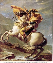 Napoleon Crossing the Alps by Jacque Louis David